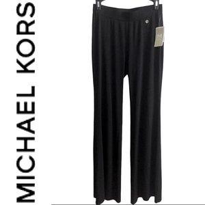 MICHAEL KORS black slinky wide flowy pants sz XS